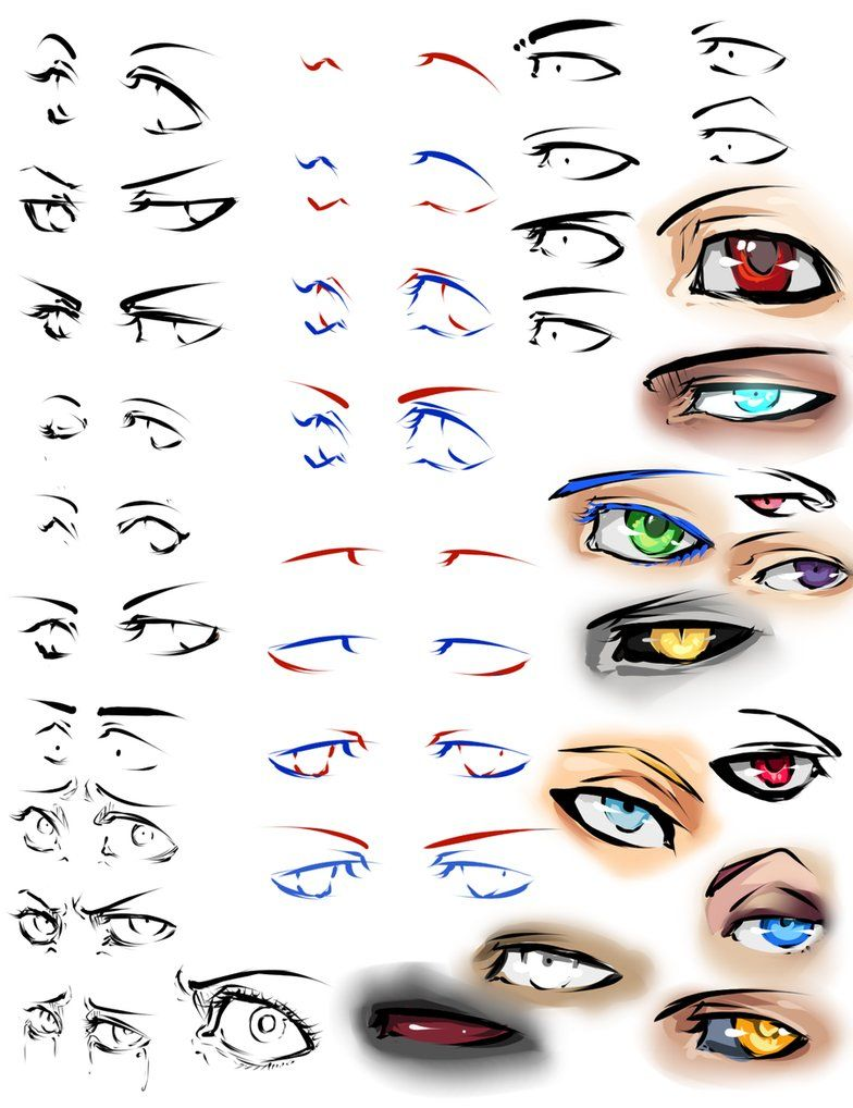 More anime eyes and tips by moni158 charley Pinterest