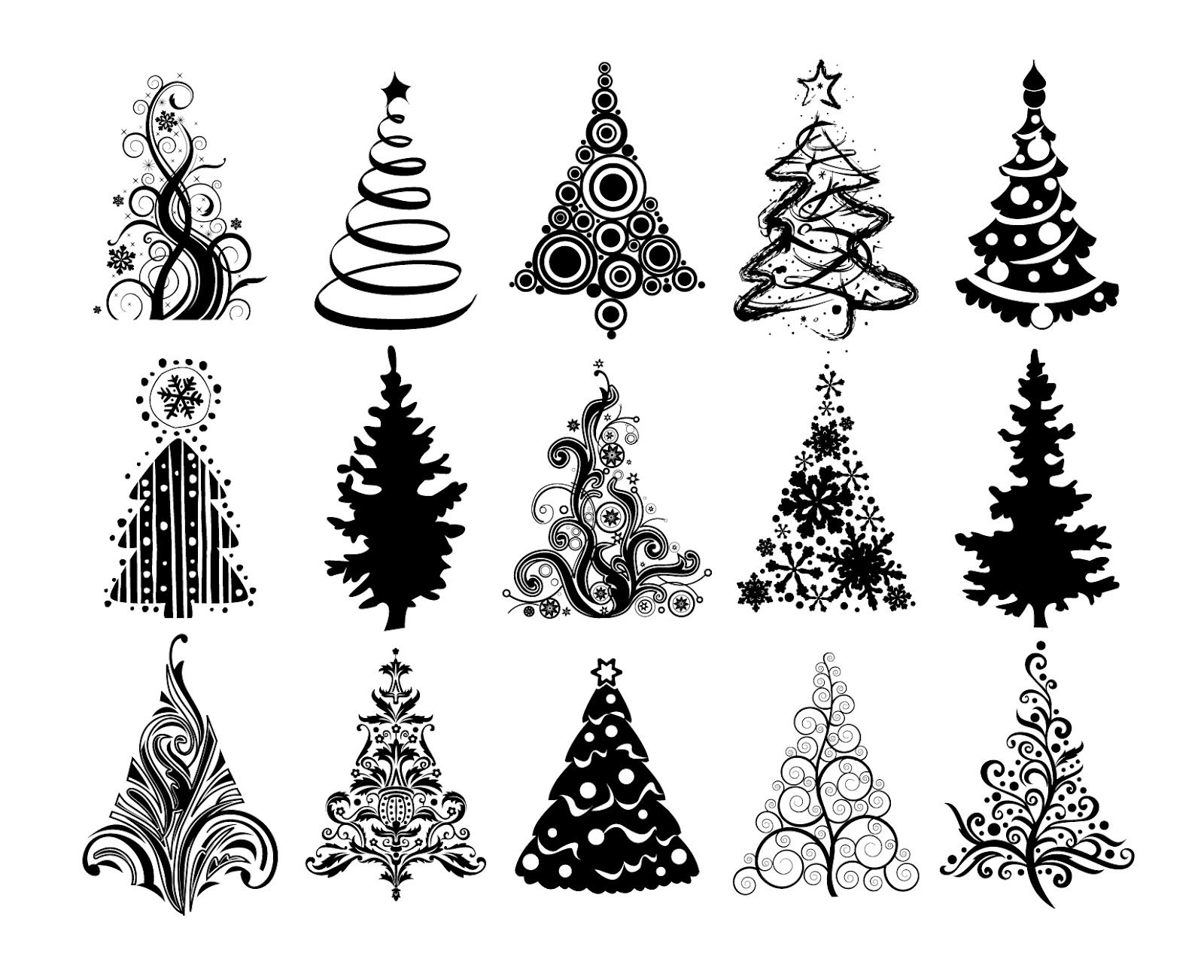 Christmas Trees Vector