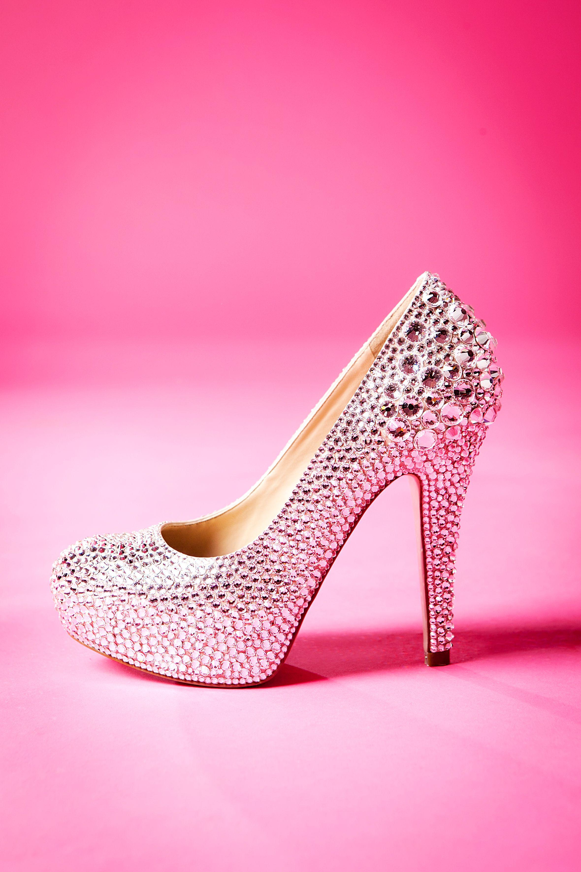 Wedding high heel Swarovski Rhinestone shoe by Crystal