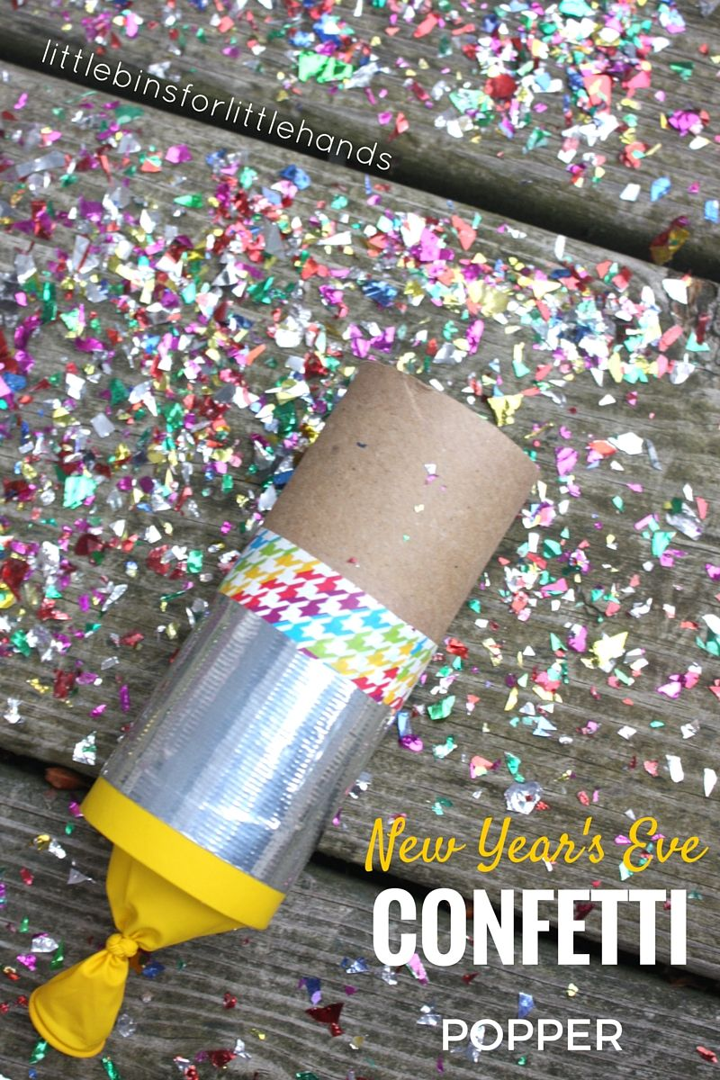Confetti Poppers Craft for New Years Eve Kids Party