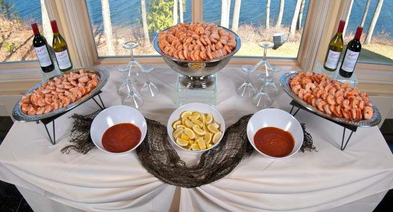 Shrimp Cocktail Display Weddings Pinterest Catering
