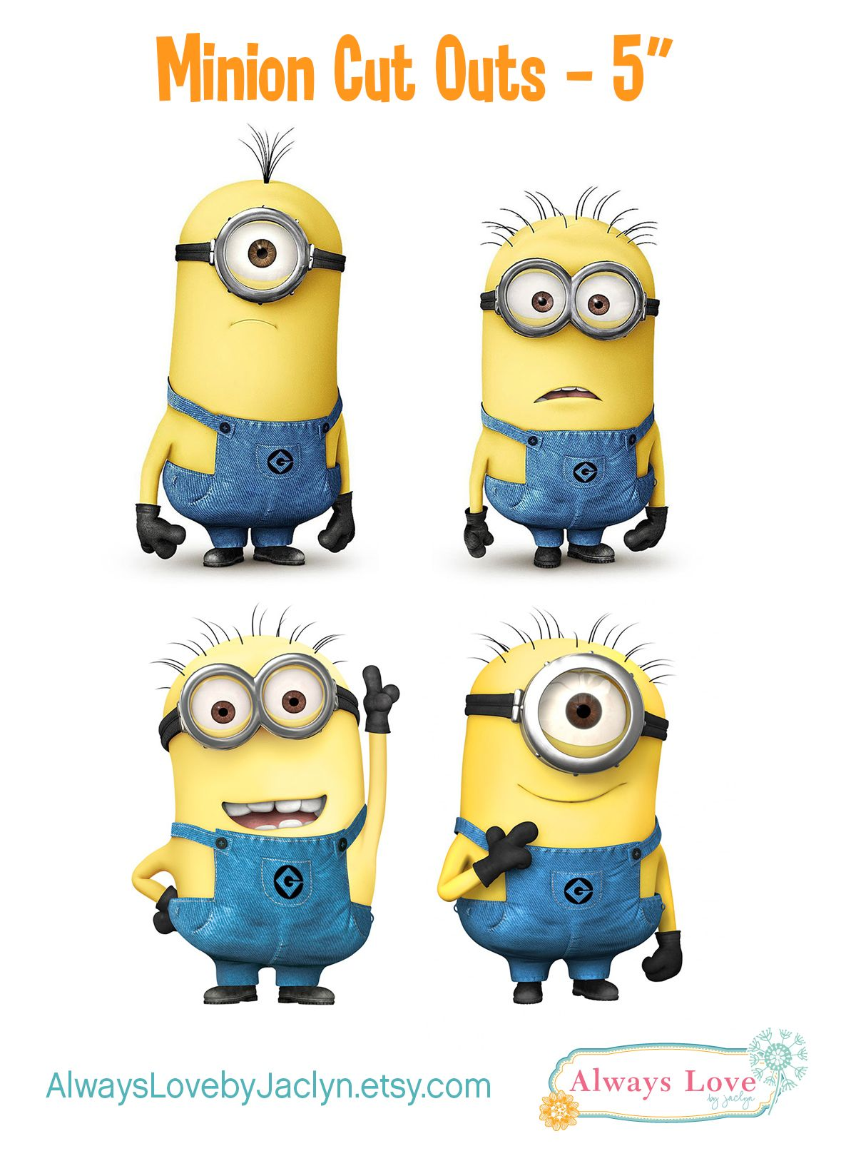 Despicable Me Minion Party Cut Outs Can Use To Make Centerpieces Or For Party Decor Visit