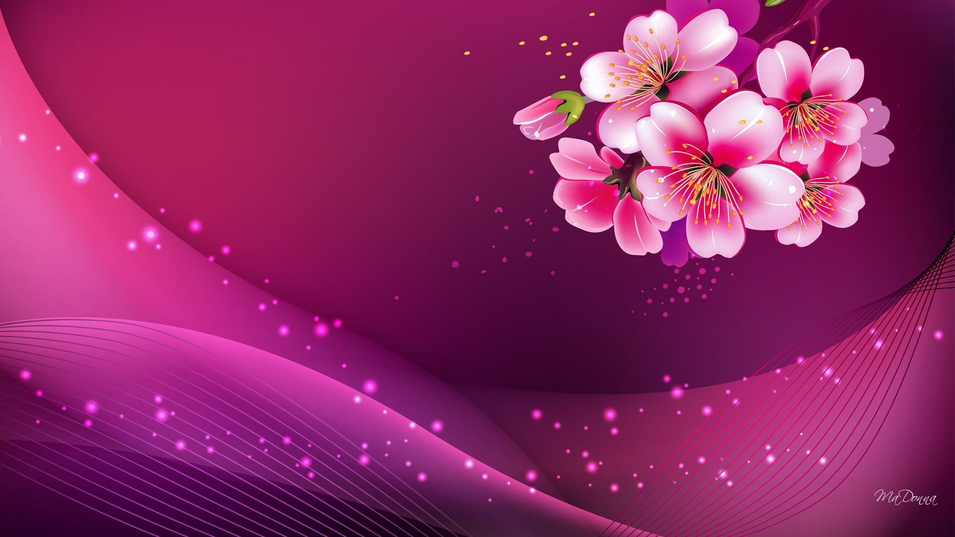 widescreen pink background hd image pc Colour Pink