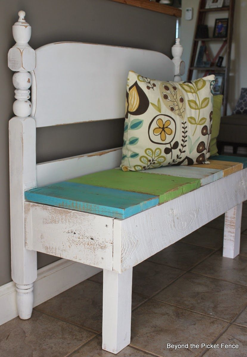 25 Headboard Benches + How to Make Your Own Fence styles