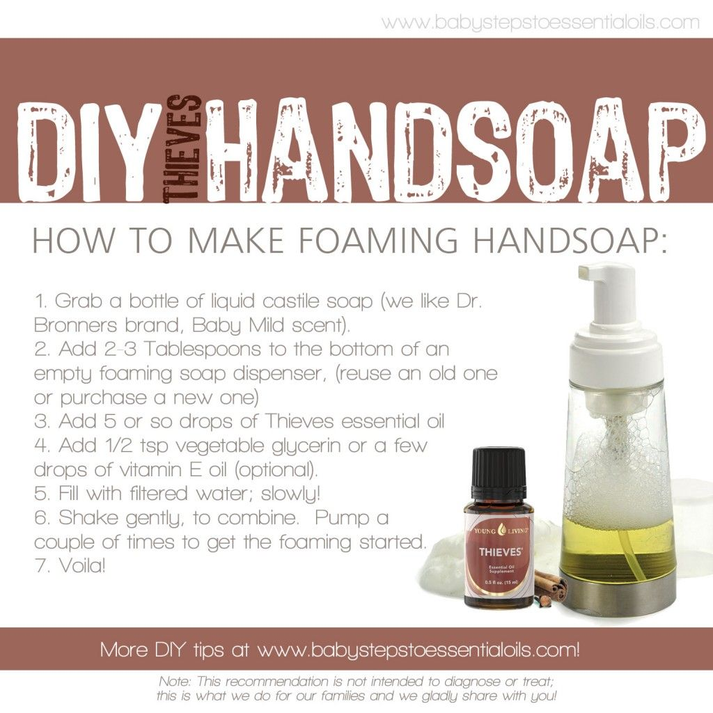 DIY Thieves Foaming Hand Soap with Young Living