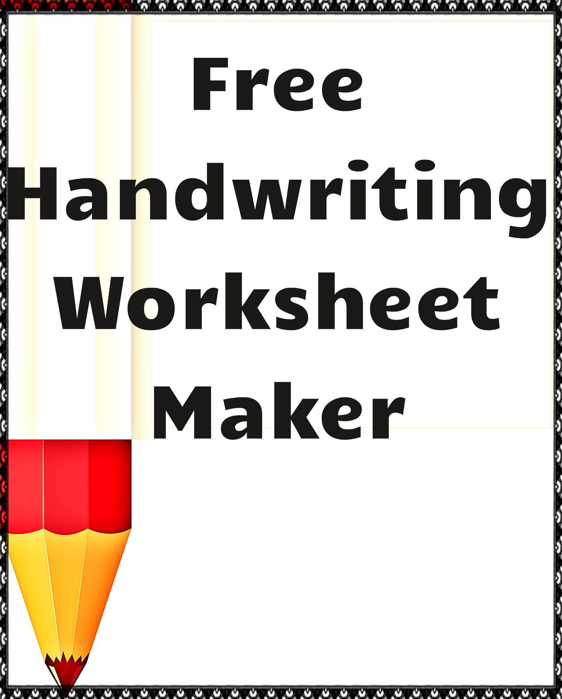 Handwriting Worksheet Creator