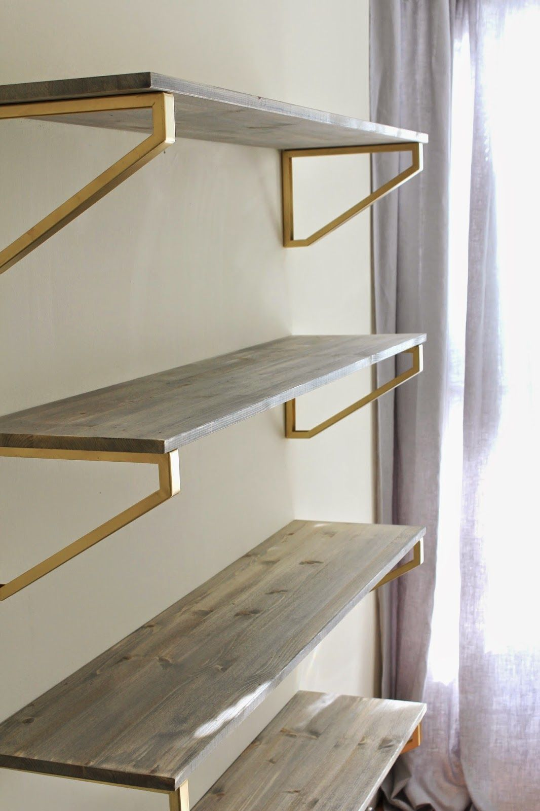 Cup Half Full Rustic Wood Shelf DIY [using Ikea EKBY