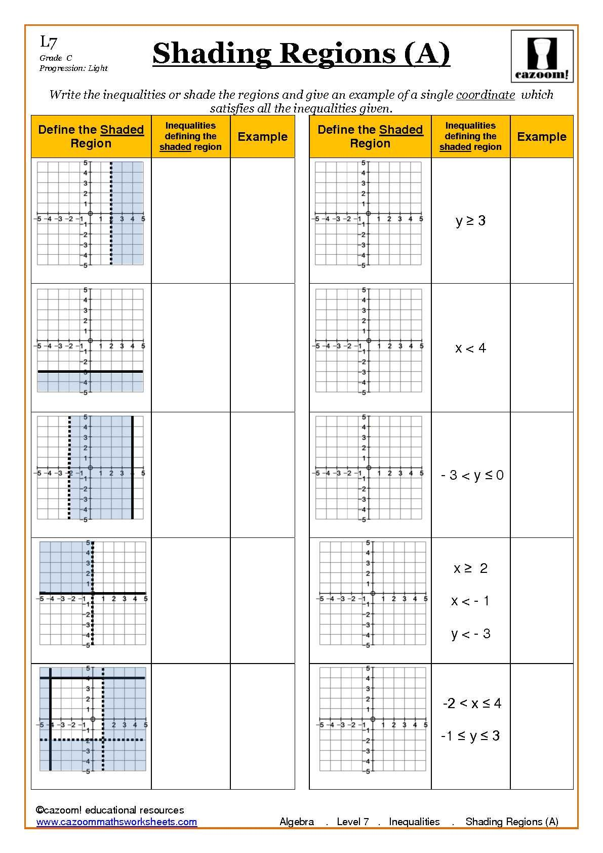 Ks4 Maths Worksheets Algebra