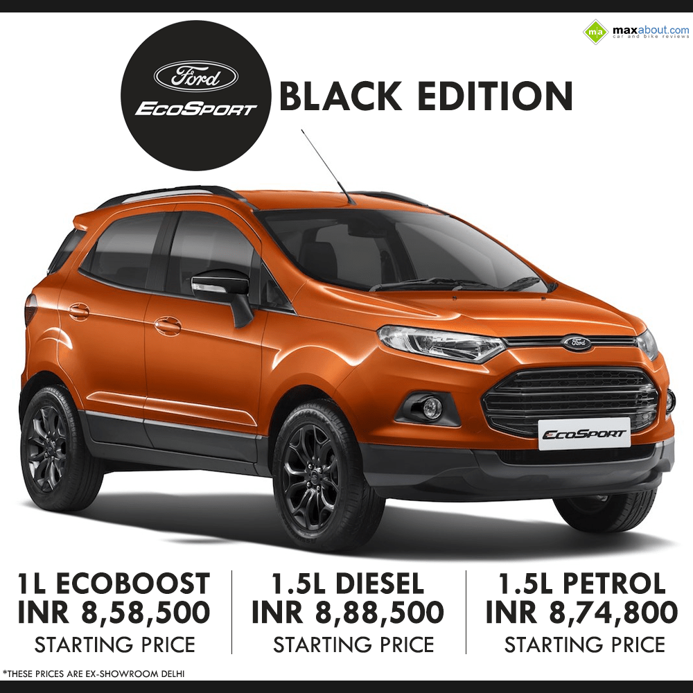Ford EcoSport Black Edition Launched INR 8,58,500 (Ex