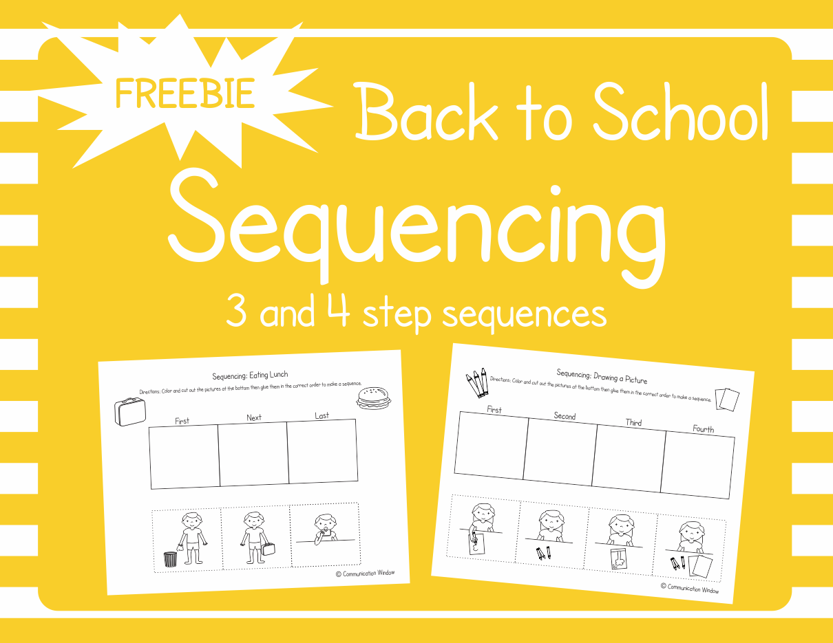 These Free Back To School Sequencing Cut And Glue Worksheets Are For Practicing 3 And 4 Step