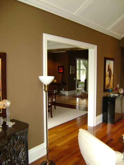 Color To Paint Interior Doors Painting Image Dark Chocolate