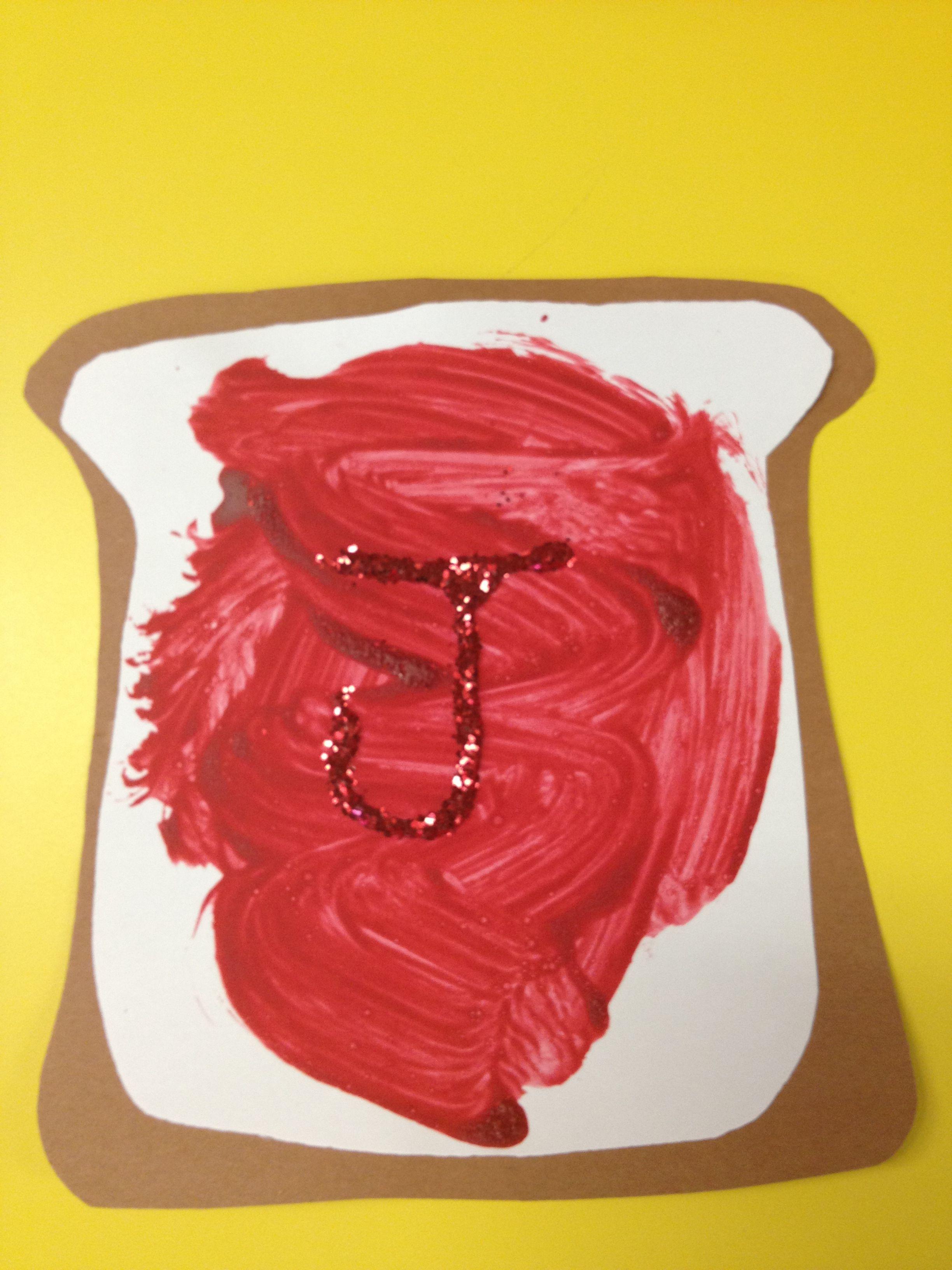 J For Jelly Sandwich So Cute