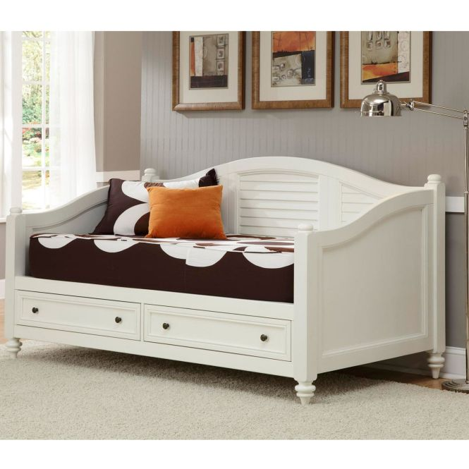 Bermuda Brushed White Finish Twin Size Daybed Ping Great Deals On Beds
