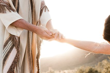Image result for Jesus holding hands with everyone
