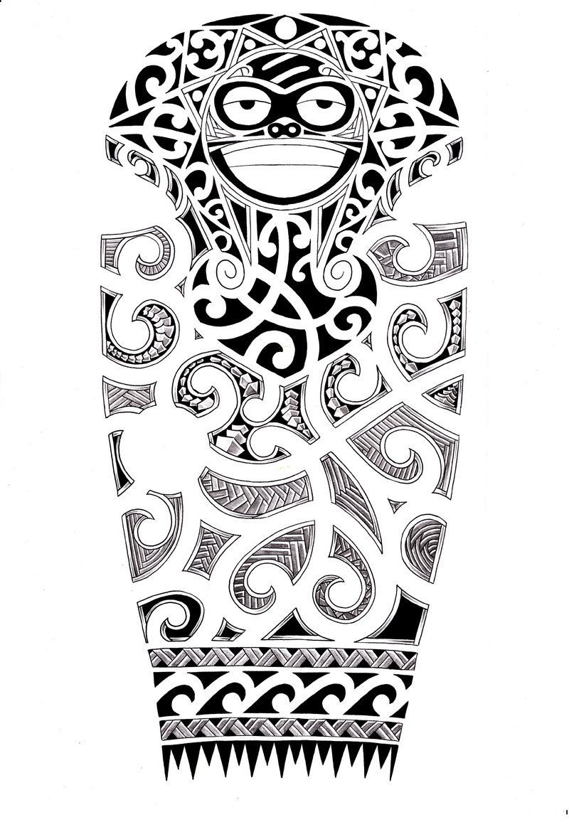 ...lower half sleeve tribal...here is how it would
