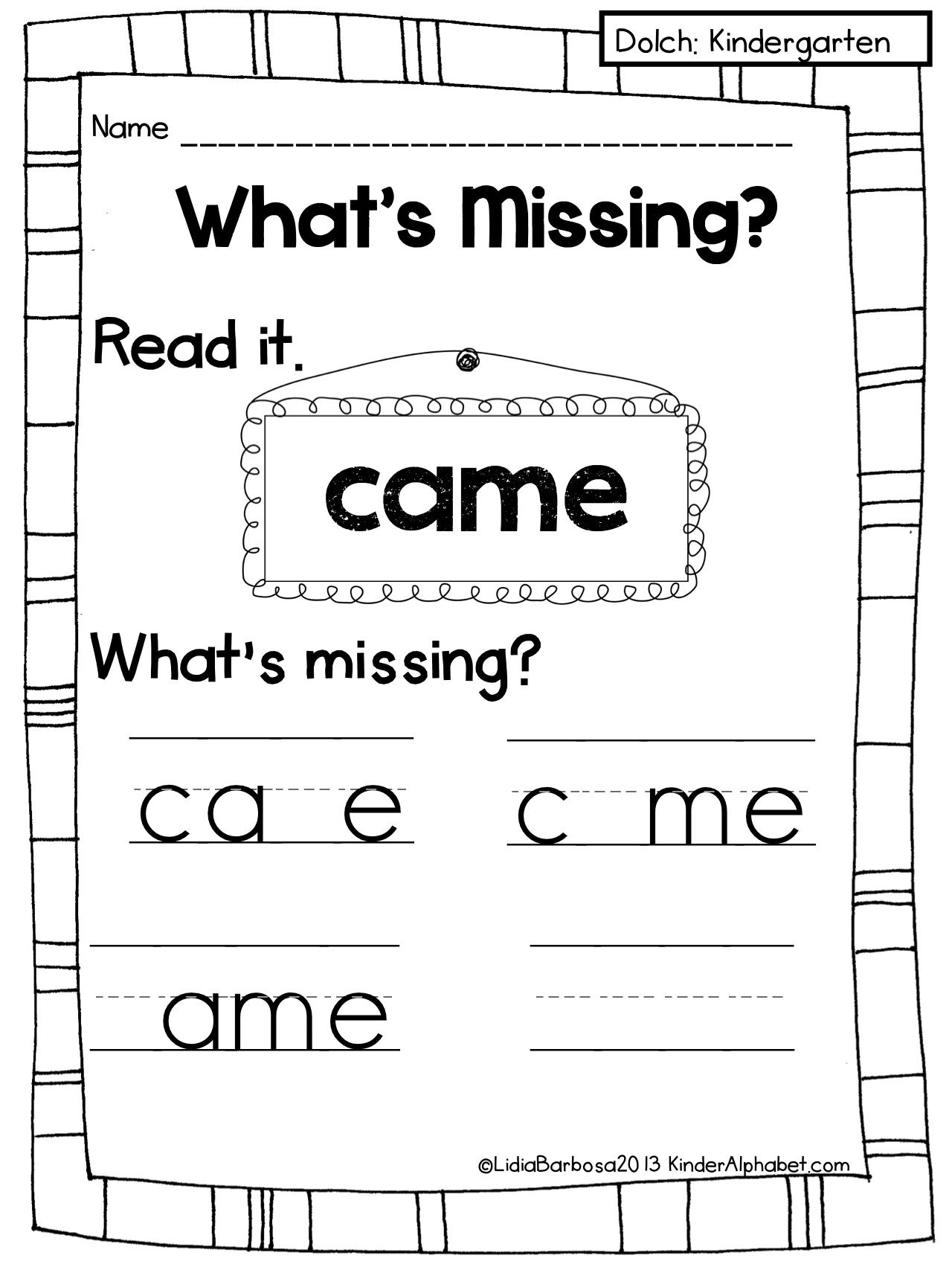 Sight Word Activities To Improve Visual Memory I Want To
