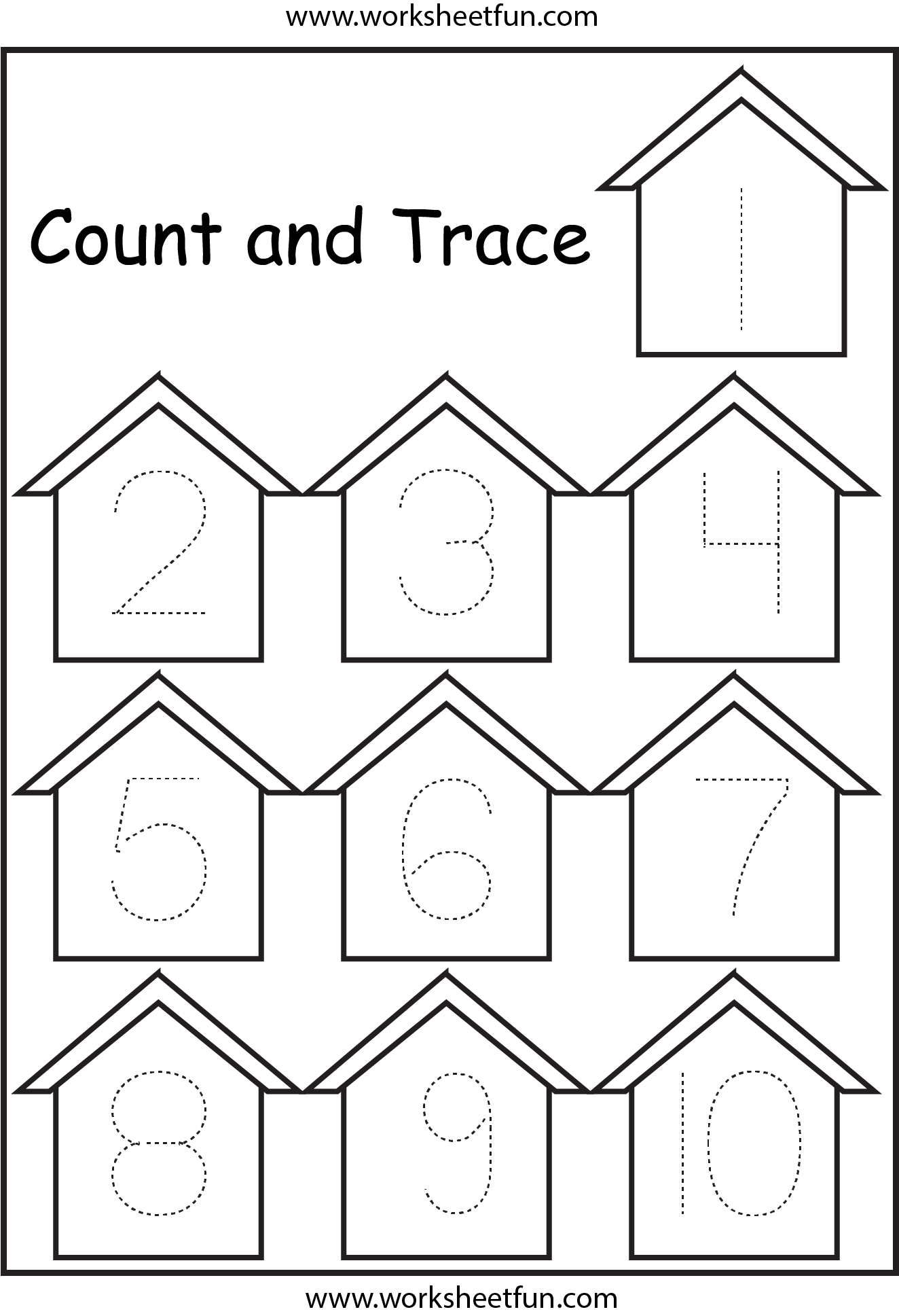 Trace Numbers Birdhouse 1