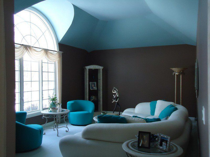 Bleu Turquoise Et Gris En 30 Ides De Peinture Et Dcoration