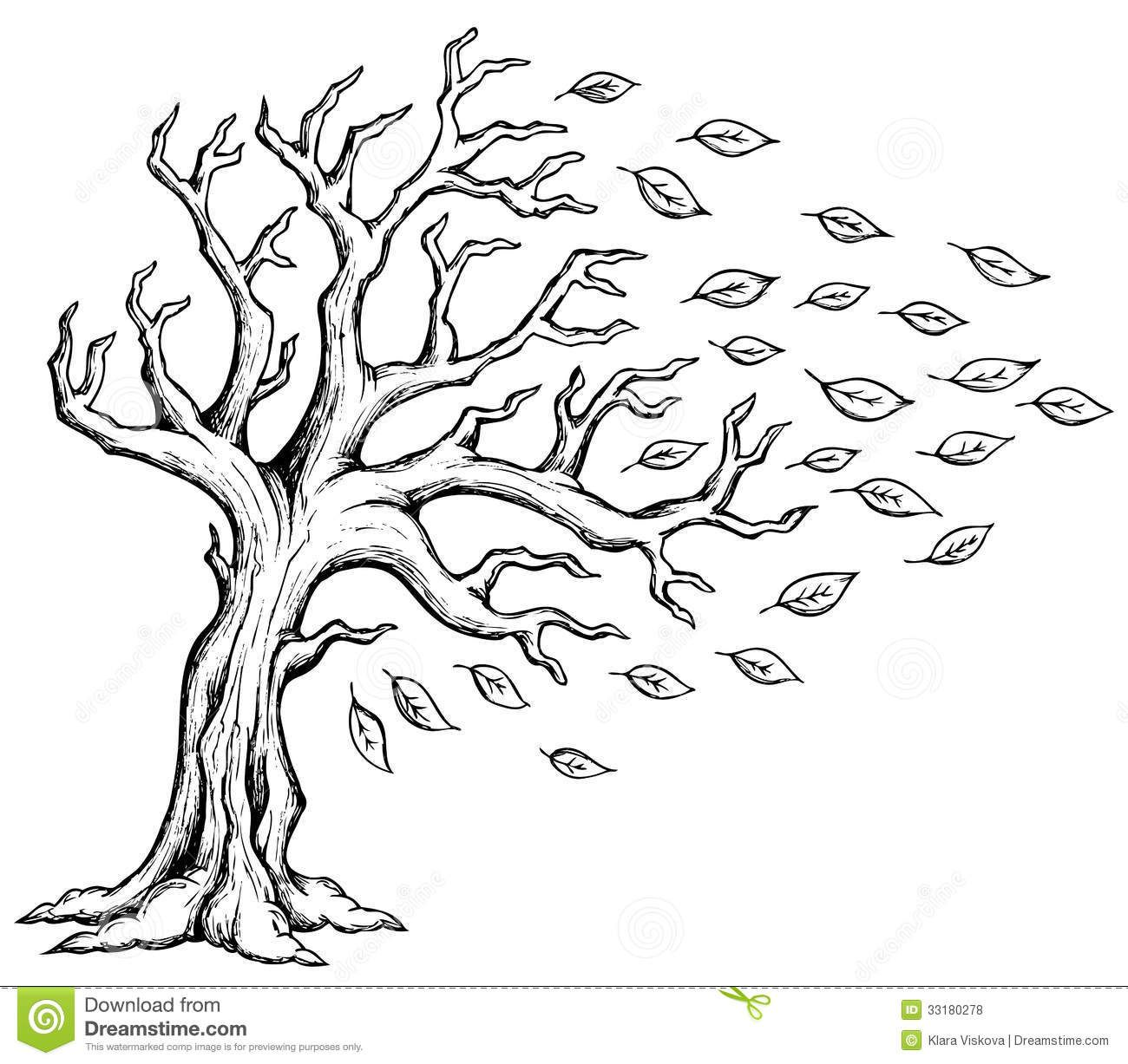 Pics For Gt Wind Blowing Through Trees Clipart