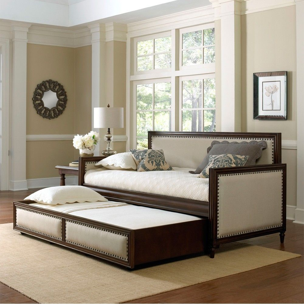 Fashion Bed Groups Grandover Upholstered Daybed Has Cream
