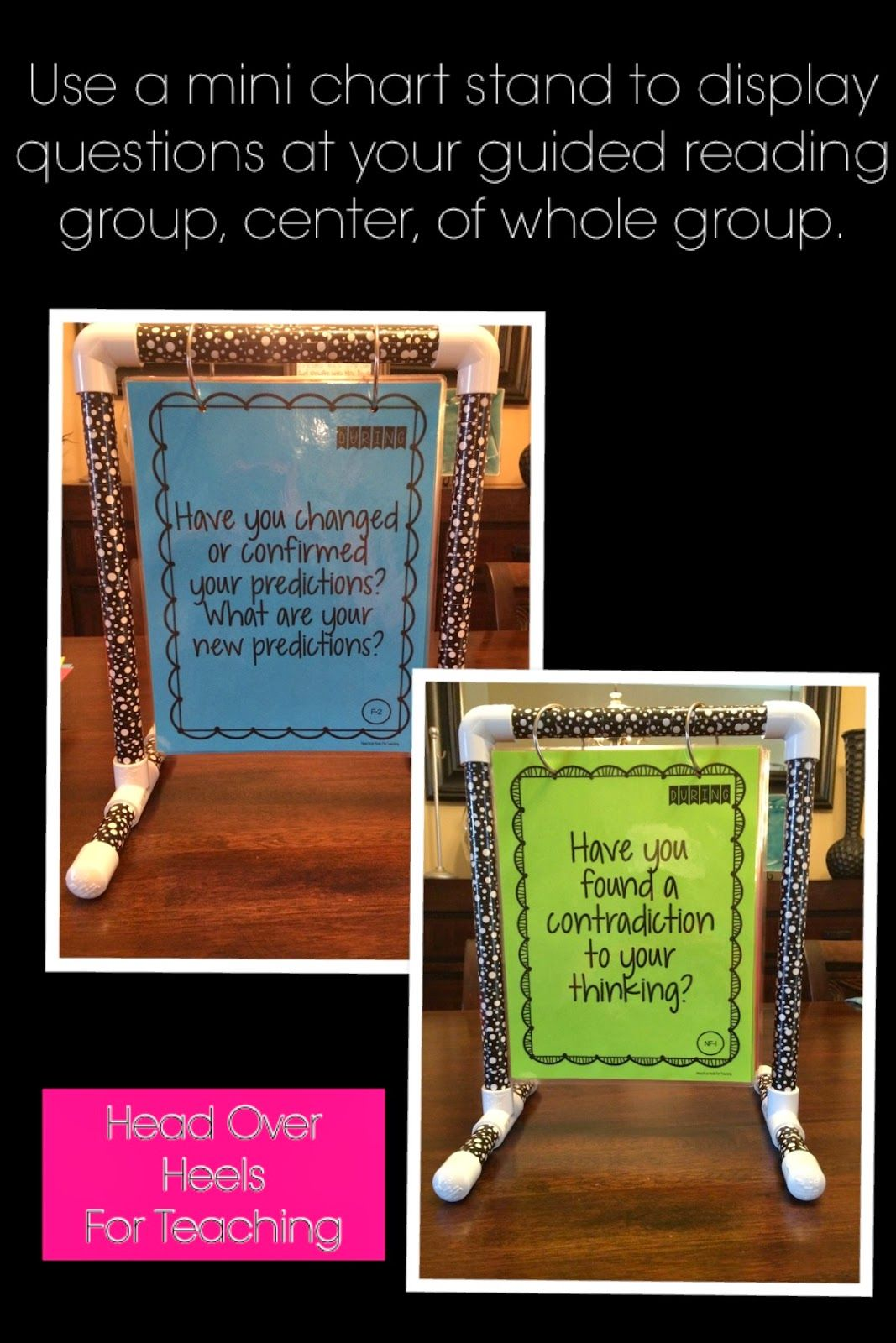 Build this mini anchor chart holder for guided reading