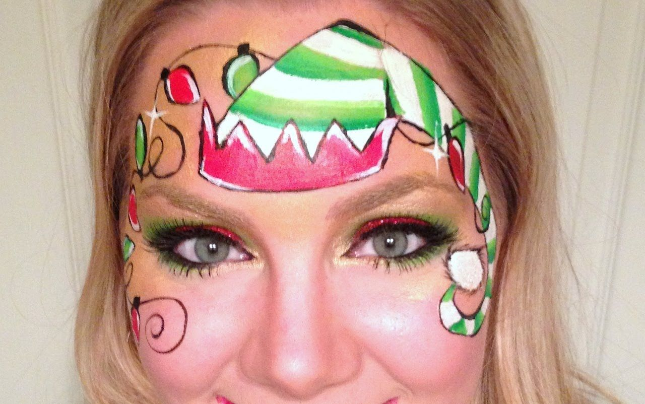Christmas Elf Face Painting face painting ideas