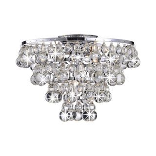 Tranquil Crystal Bubble And Chrome Flush Mount Chandelier Ping S On Otis Designs Mounts