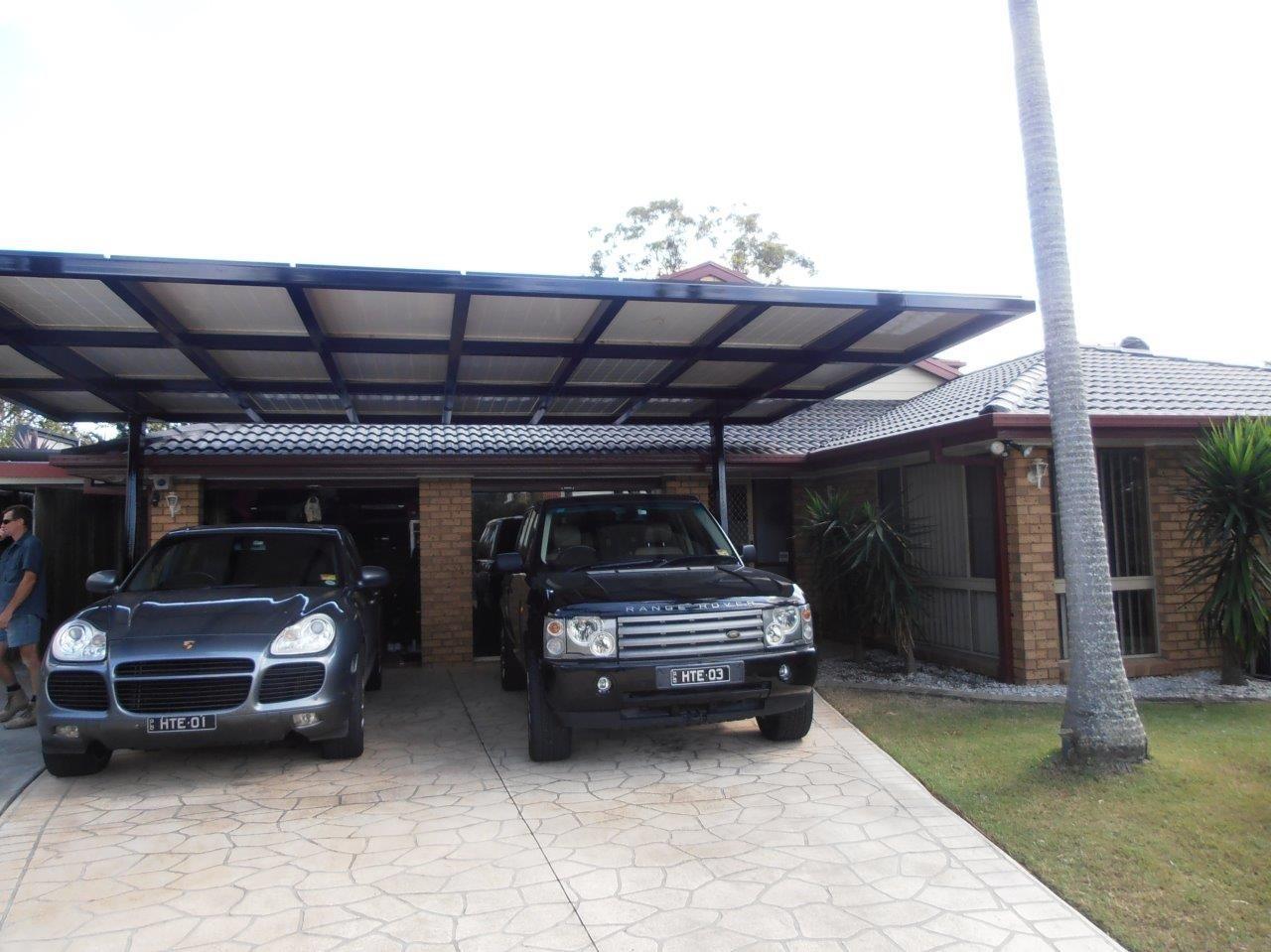 Carport & Solar Panel Structure. Cantilevered steel