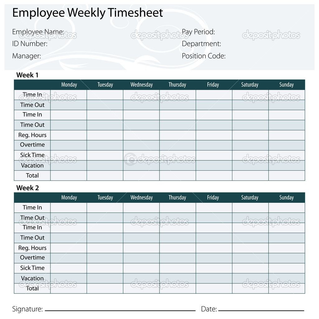 Free Printable Timesheet Templates