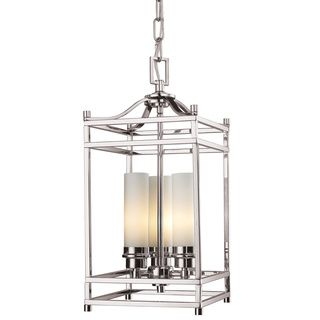 Capital Lighting Stanton Collection 3 Light Polished Nickel Pendant Ping