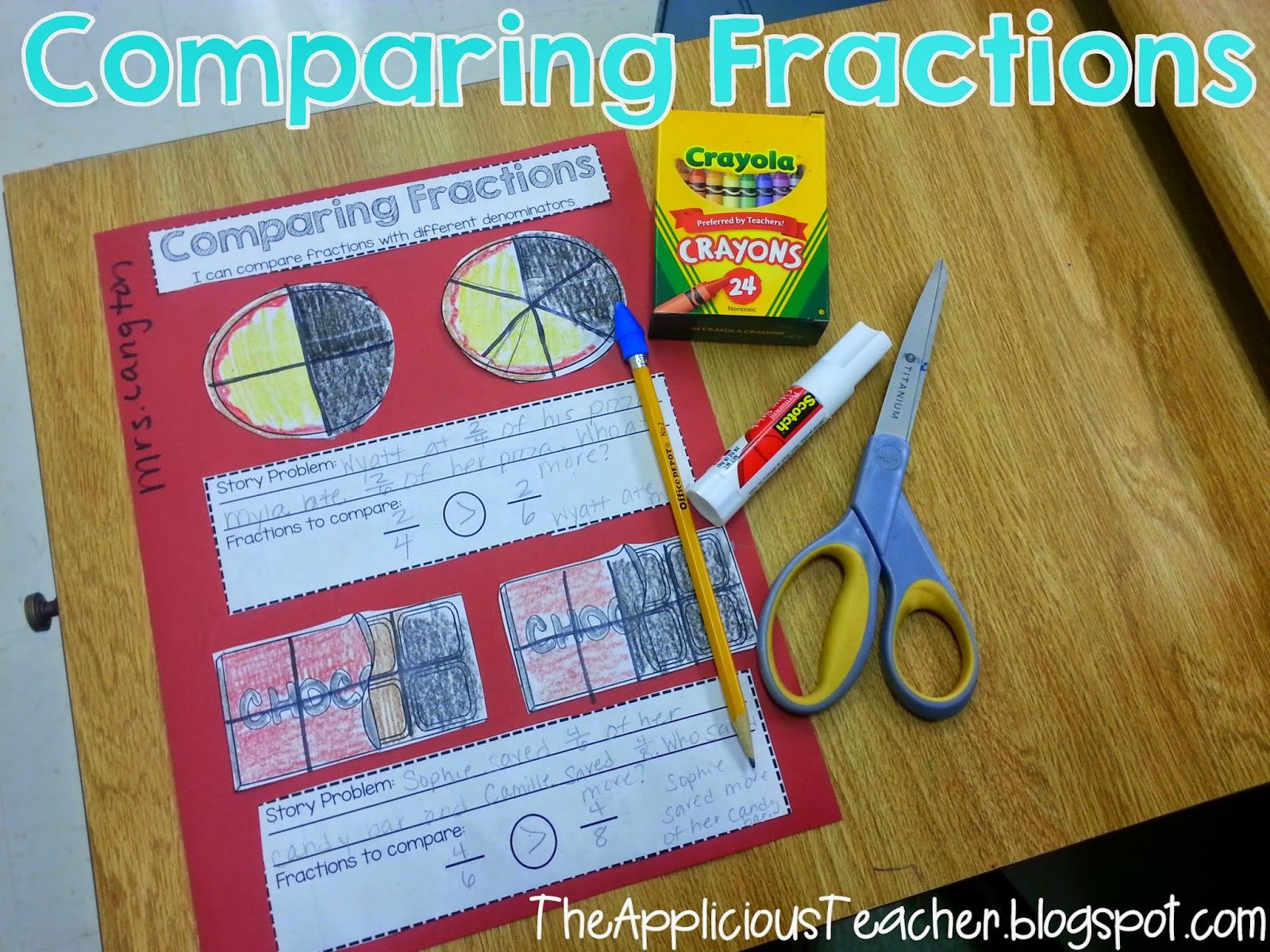 Comparing Fractions Freebie Great Way For Students To Use Reasoning To Compare Fractions