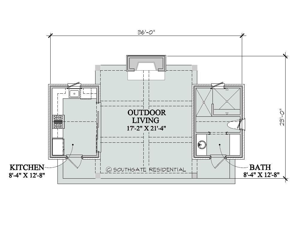 Pool House Floor Plans Southgate Residential Poolhouse
