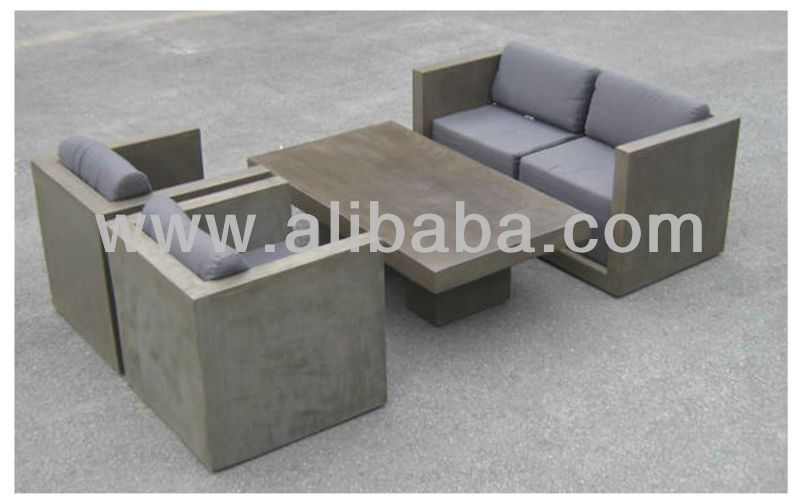 Outdoor Living- Fiber Cement Furniture- Sofaset, View