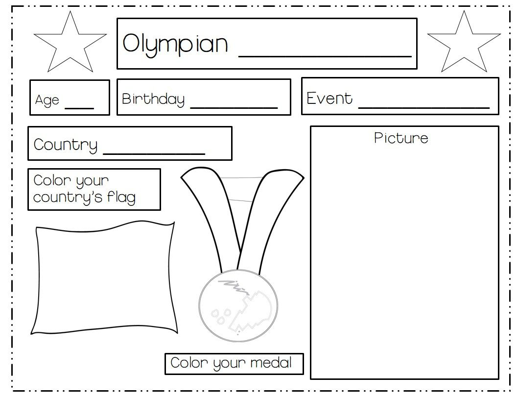 Olympics Reading Worksheet