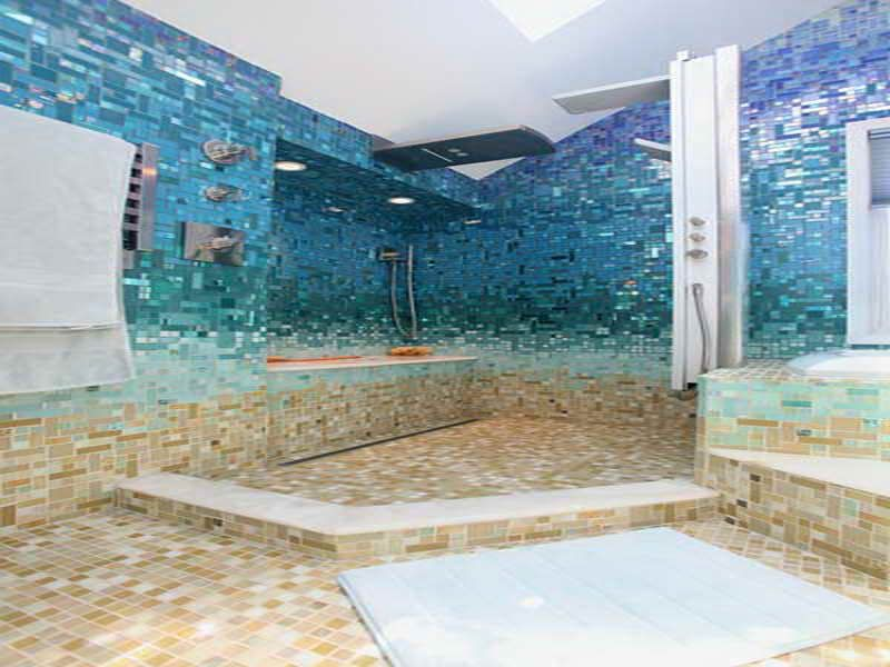 "Tile Mosaic, ""pool Deck Stone"" To ""underwater"" Tile"