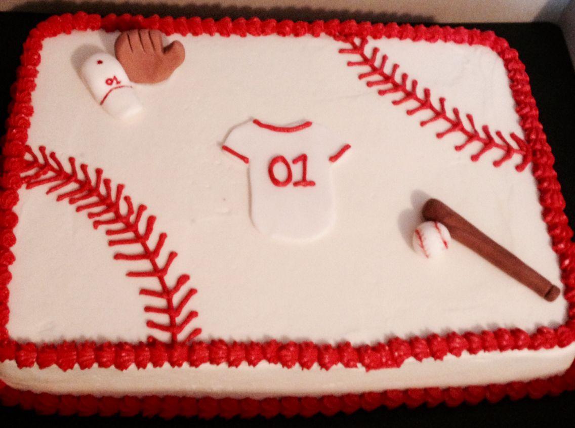 Baseball Sheet Cake Blessings Bakery Pinterest
