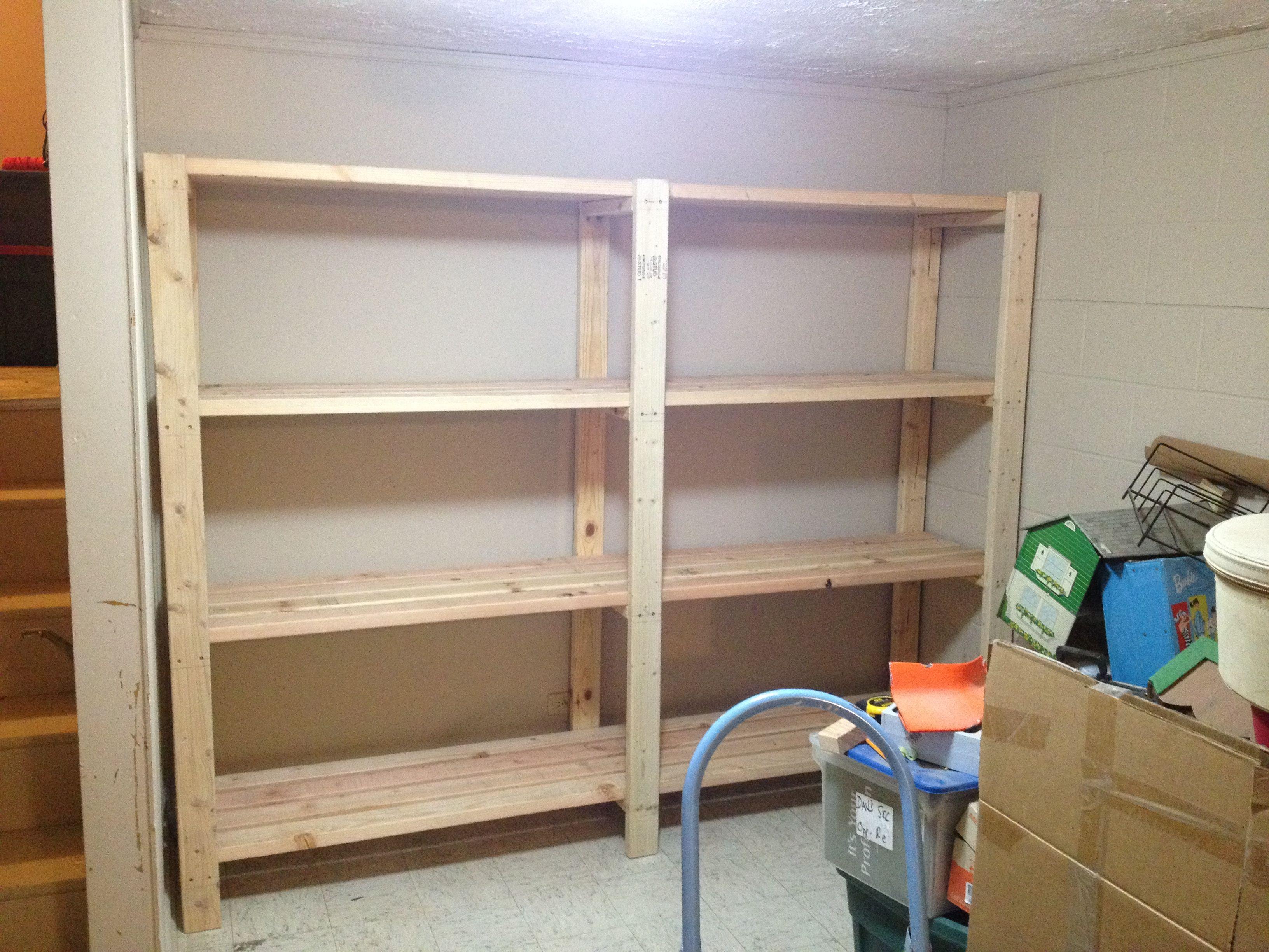 2 x 4 Garage Shelves Built into Basement Storage! Do It