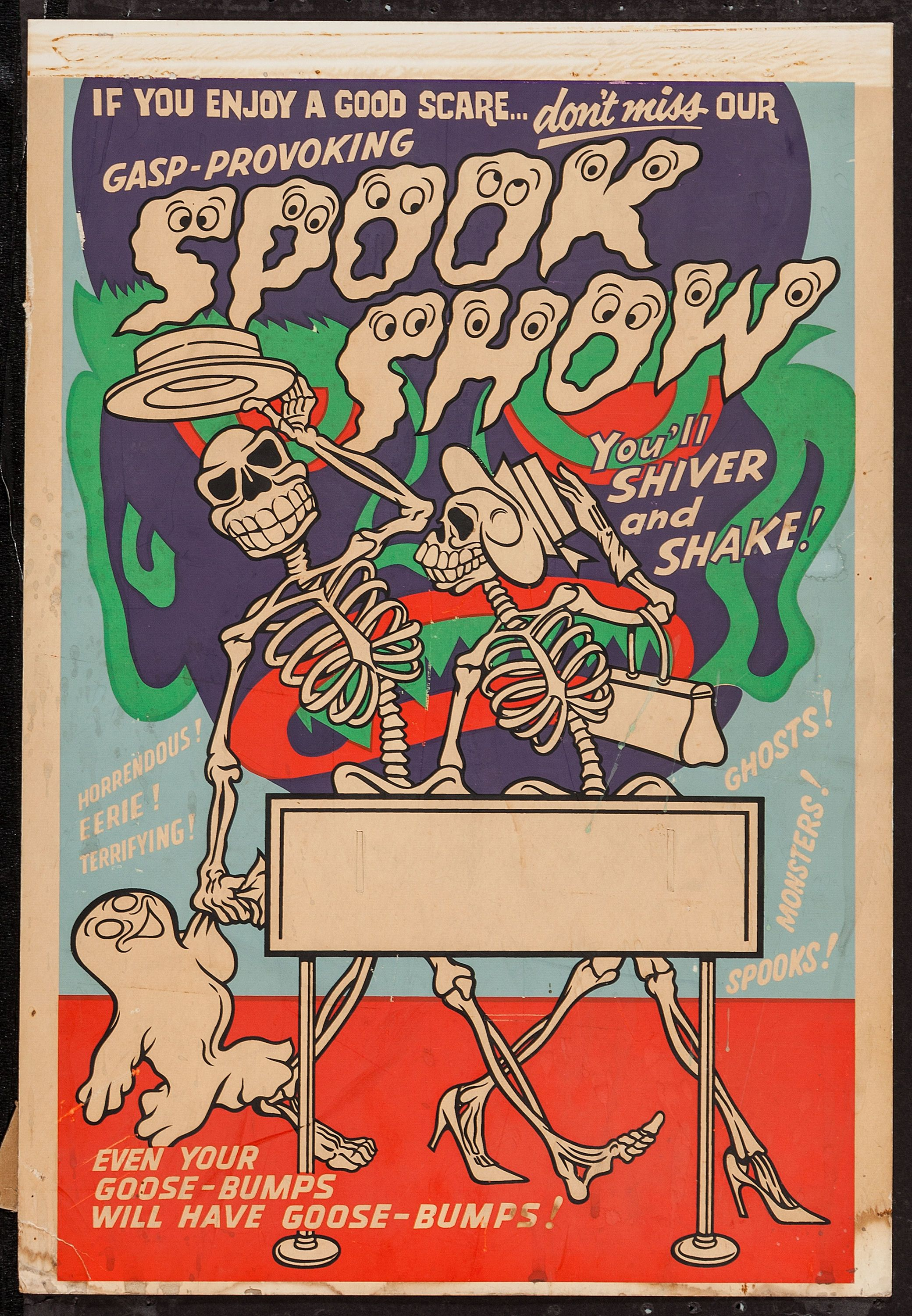 Spook Show Poster typehunter Show Posters (Magic