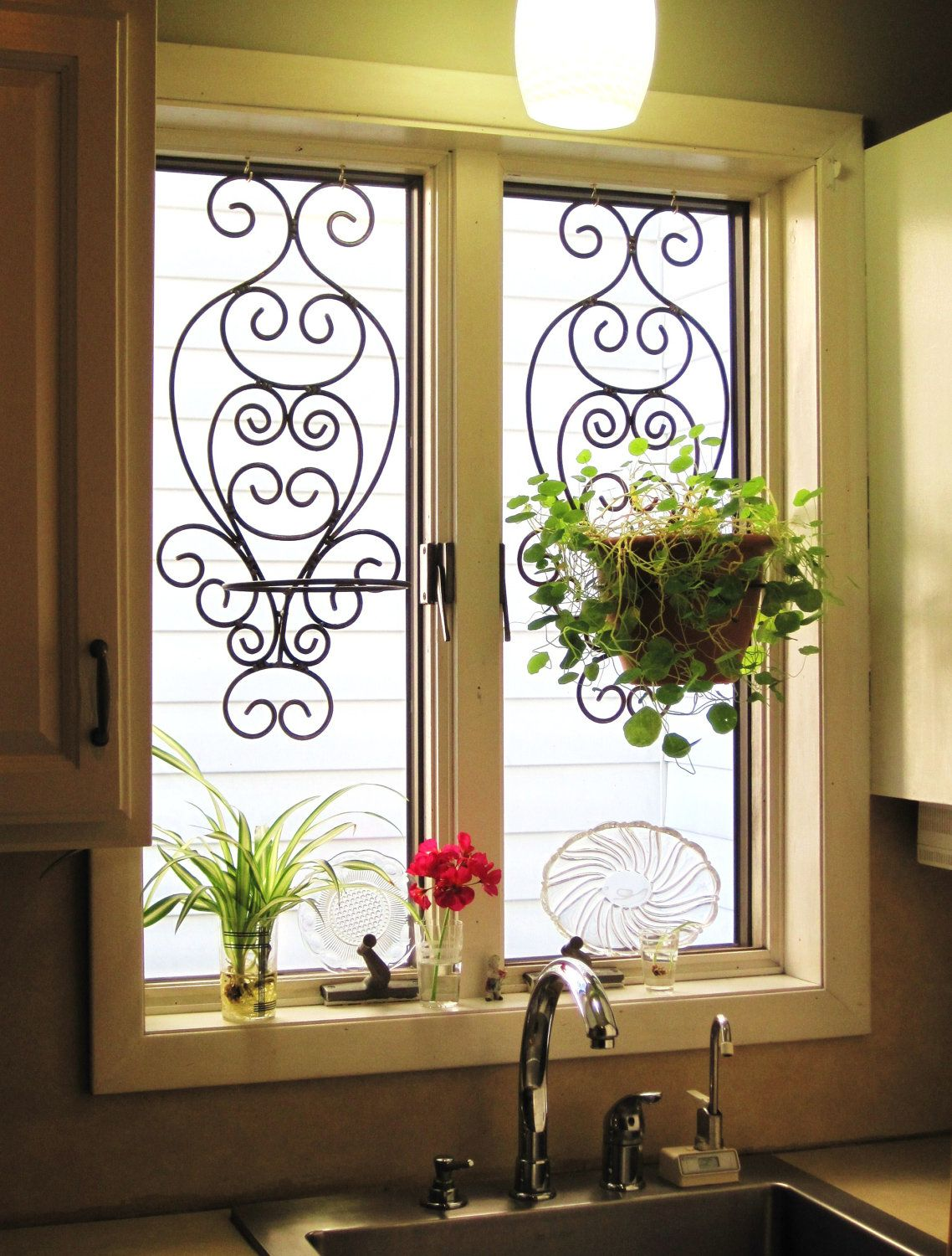 French sconces Window, Plants and Succulents