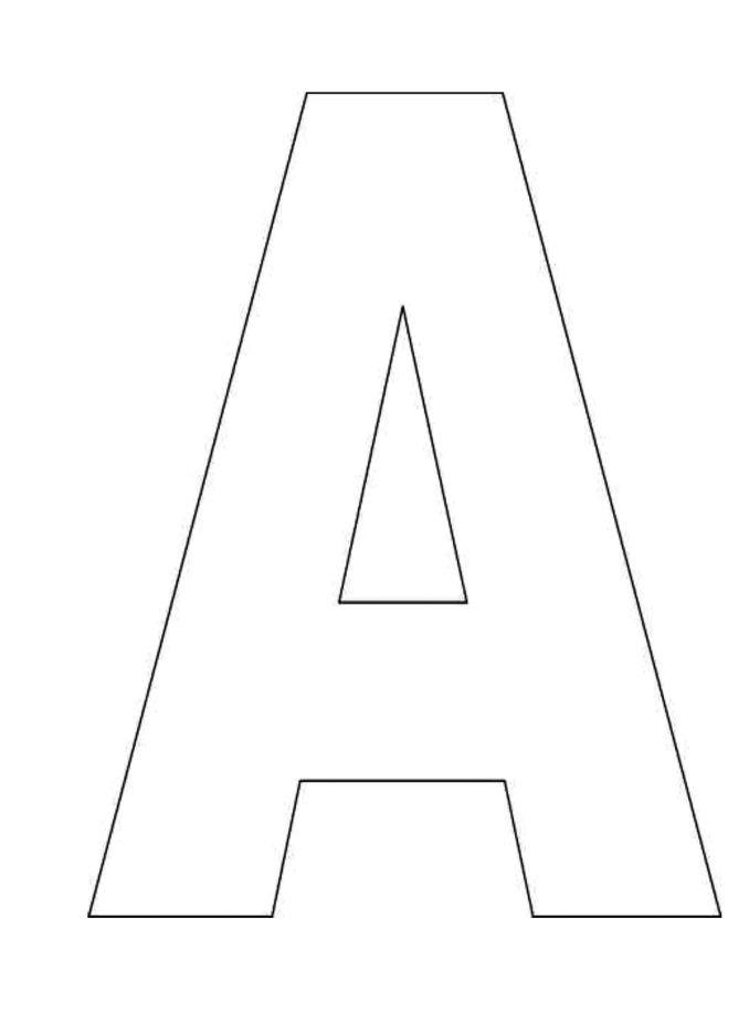 Free printable large block alphabet letters newsinvitation printable alphabet letter templates free to print spiritdancerdesigns Images