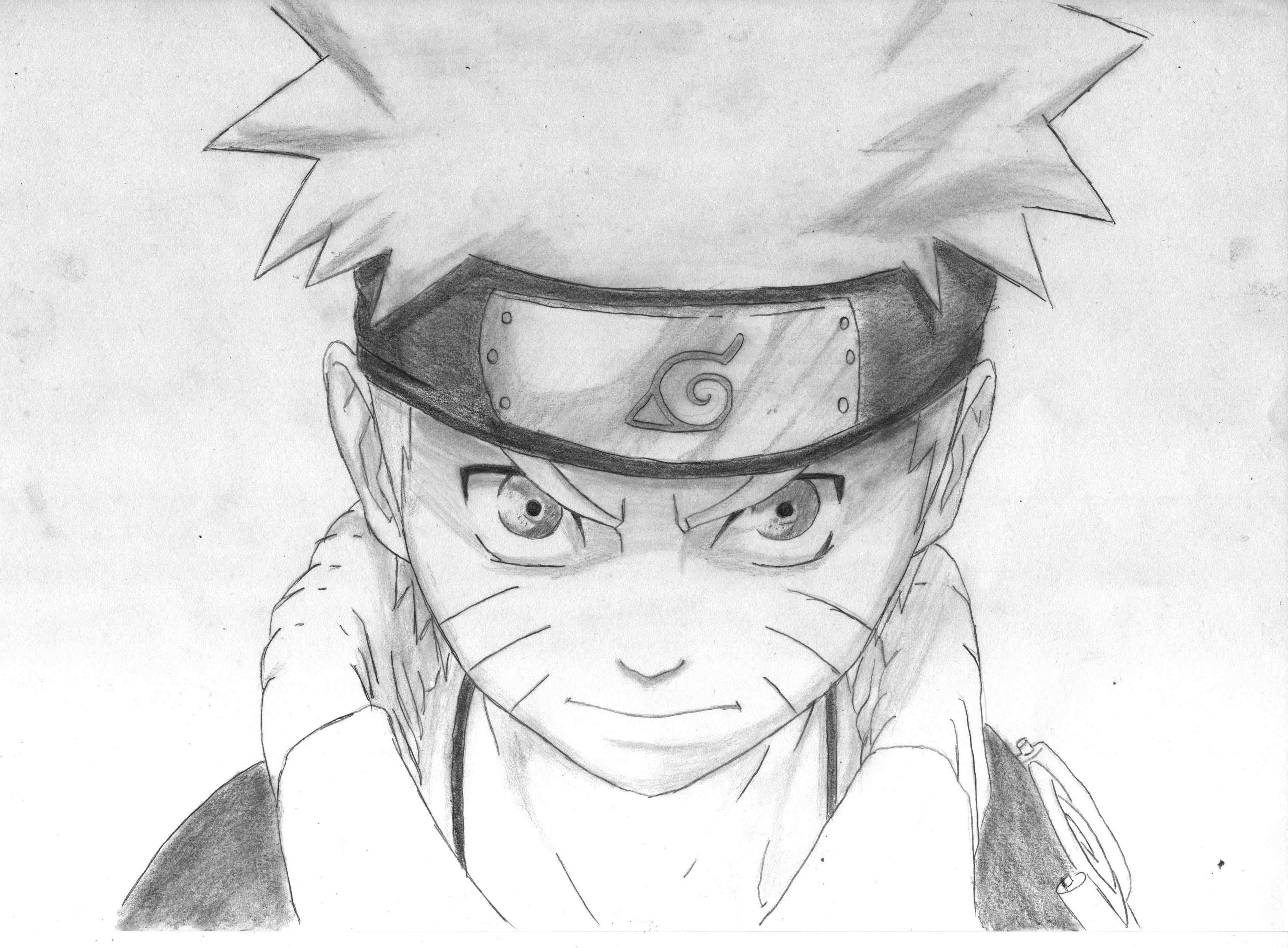 Naruto pencil drawing by on