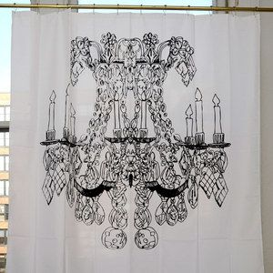 Chandelier Shower Curtain Now Featured On Fab Izolasophisticated Curtains Izola Brings The World To