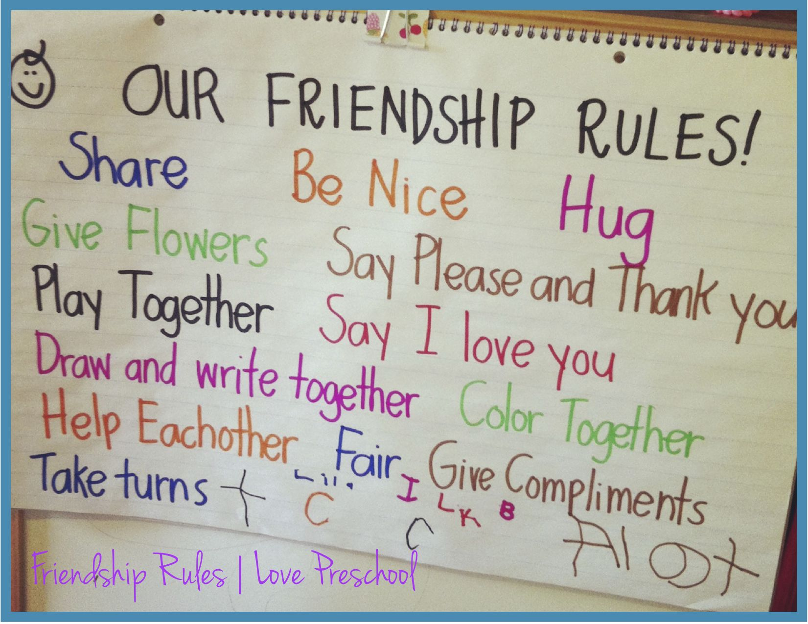 Setting Up Rules In A Preschool Classroom Friendship Rules
