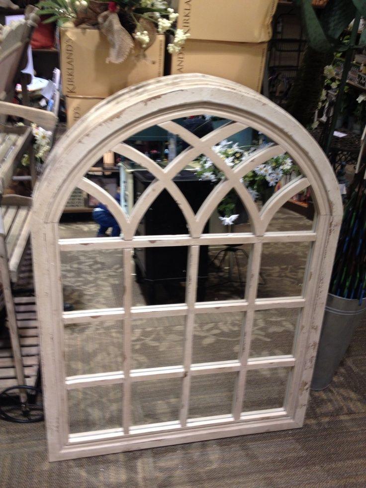 kirklands distressed cream sadie arch mirror Google
