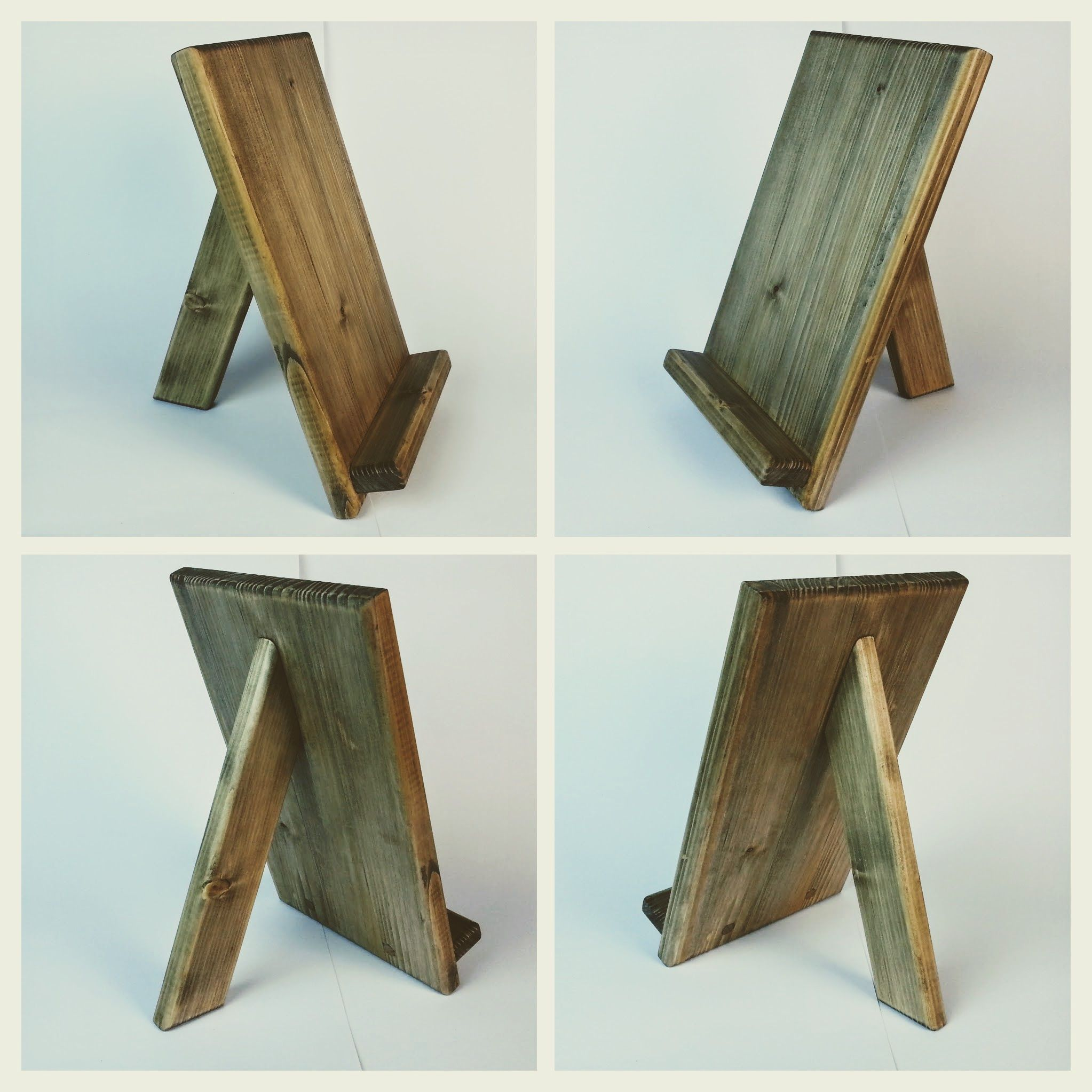 Wooden tablet holder, iPad stand Woodworking Pinterest