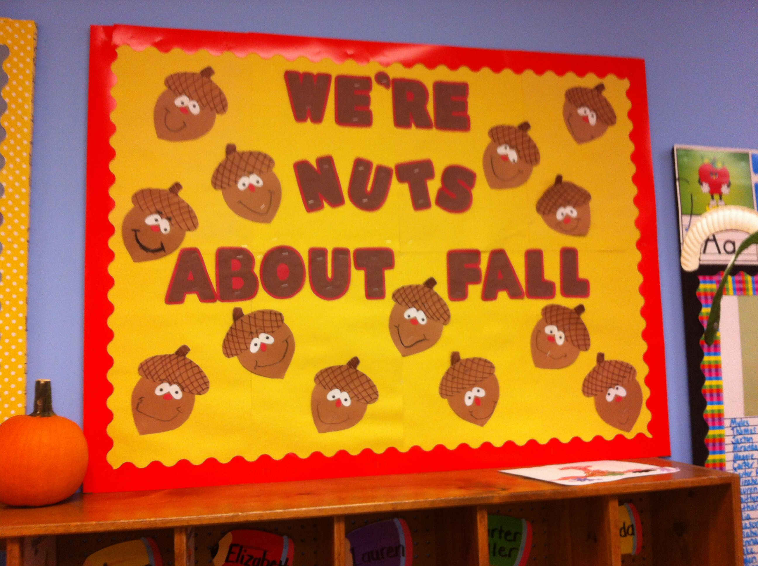 Fall Bulletin Board Acorns Nuts About Fall Pre K And Elementary Ed Bulletin Boards