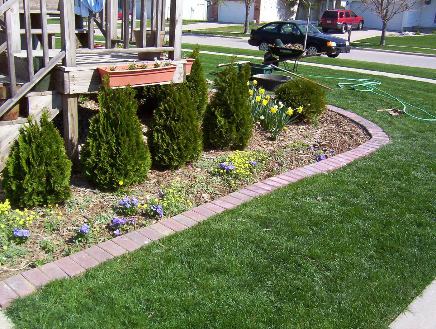 simple flower bed edging design ideas Lawn care