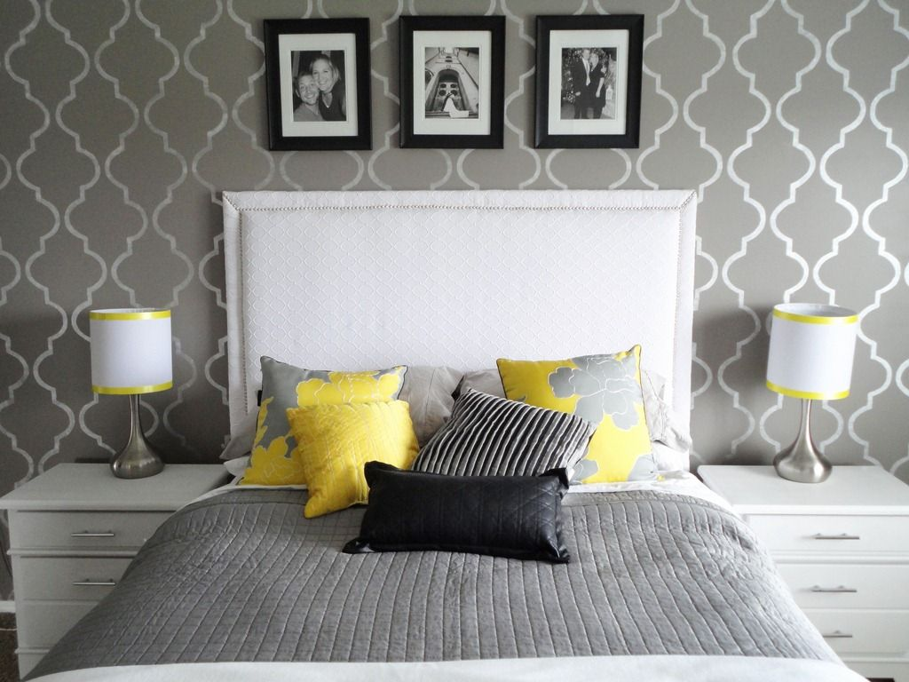 totally inspired tuesday {by mallory | gray bedroom, yellow