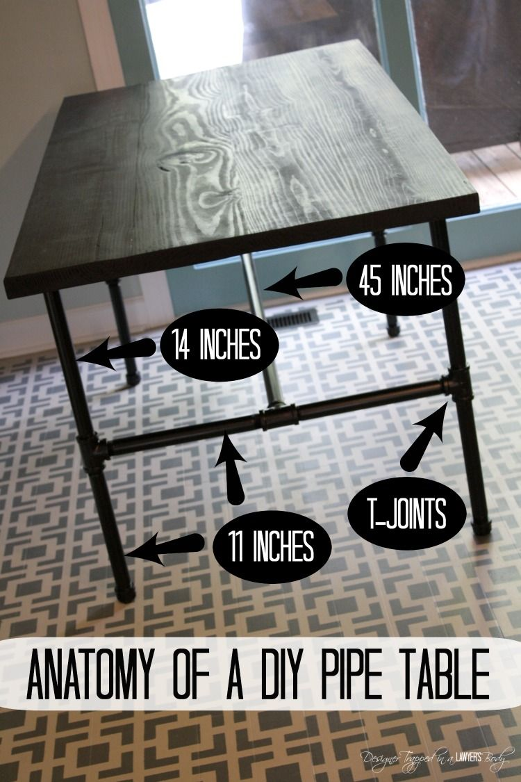 DIY Pipe Table Tutorial Diy pipe, Industrial table and Pipes