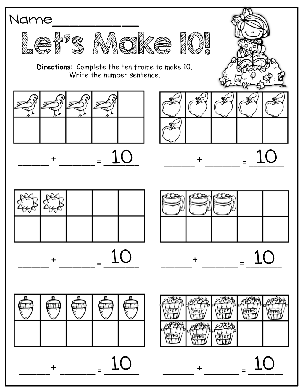 Worksheet Making Ten Worksheets Grass Fedjp Worksheet